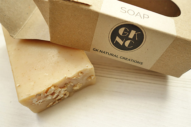 gk natural creations honey and oatmeal soap