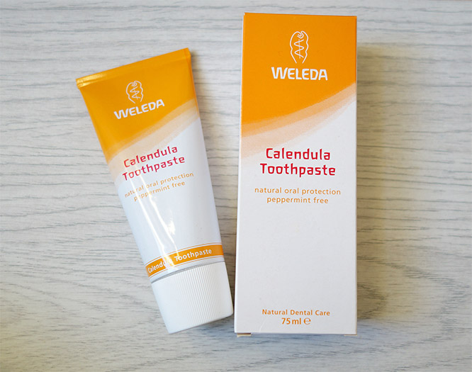 Weleda Calendula toothpaste - natural fluoride-free and mint-free toothpaste